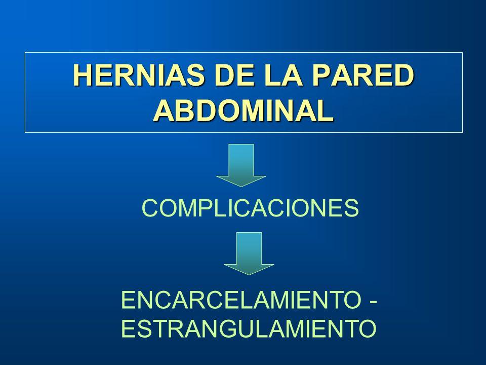 HERNIAS DE LA PARED ABDOMINAL COMPLICACIONES ENCARCELAMIENTO - ESTRANGULAMIENTO