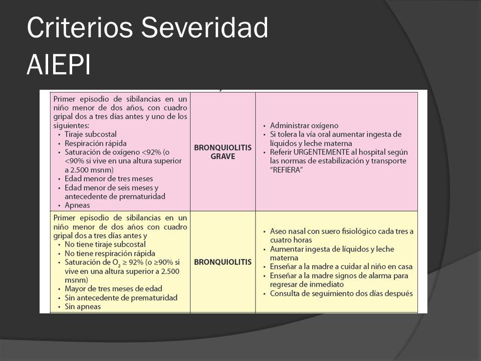 Criterios Severidad AIEPI