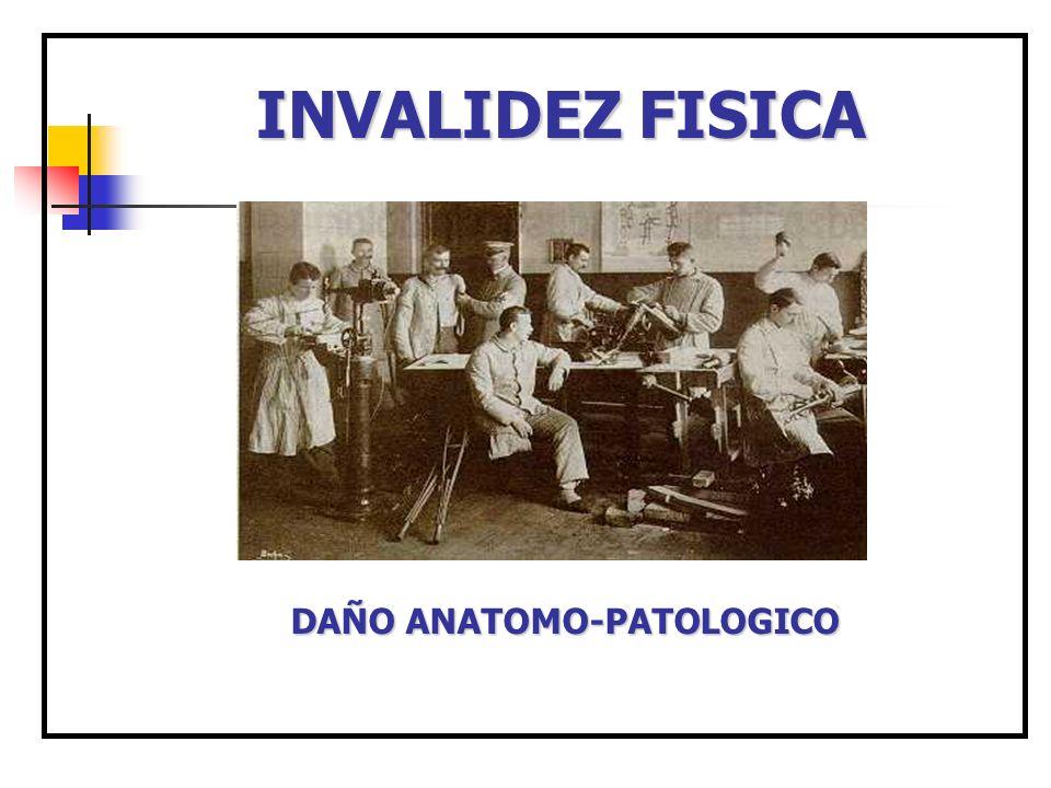 INVALIDEZ FISICA DAÑO ANATOMO-PATOLOGICO