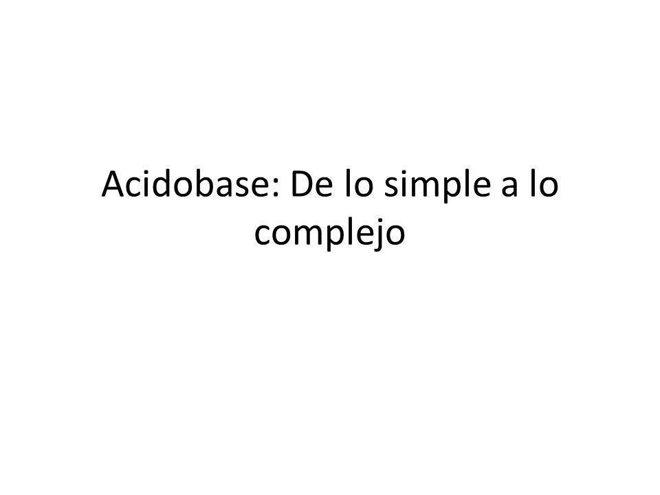 Acidobase: De lo simple a lo complejo Pablo Saborío Chacón Nefrólogo Pediatra