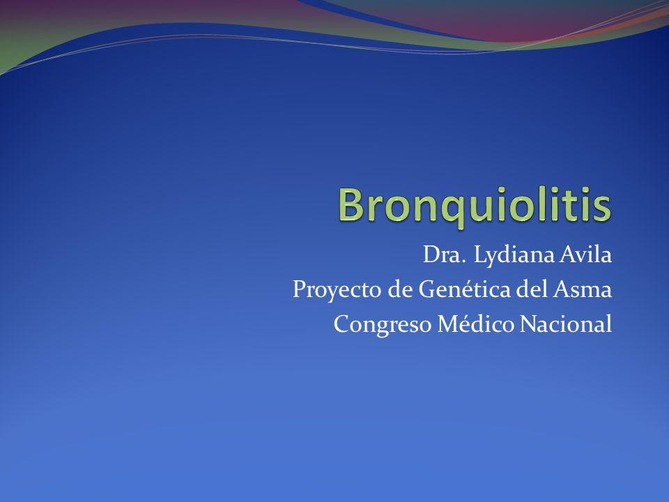 Dra. Lydiana Avila Proyecto de Genética del Asma Congreso Médico Nacional