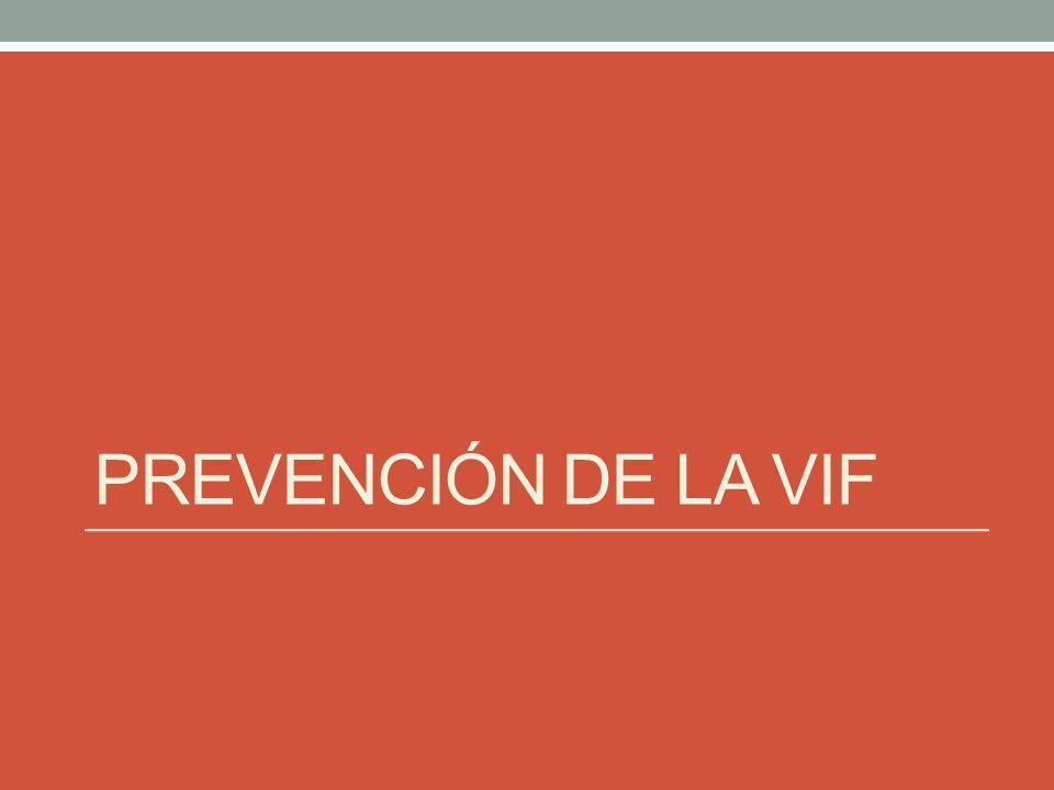 PREVENCIÓN DE LA VIF