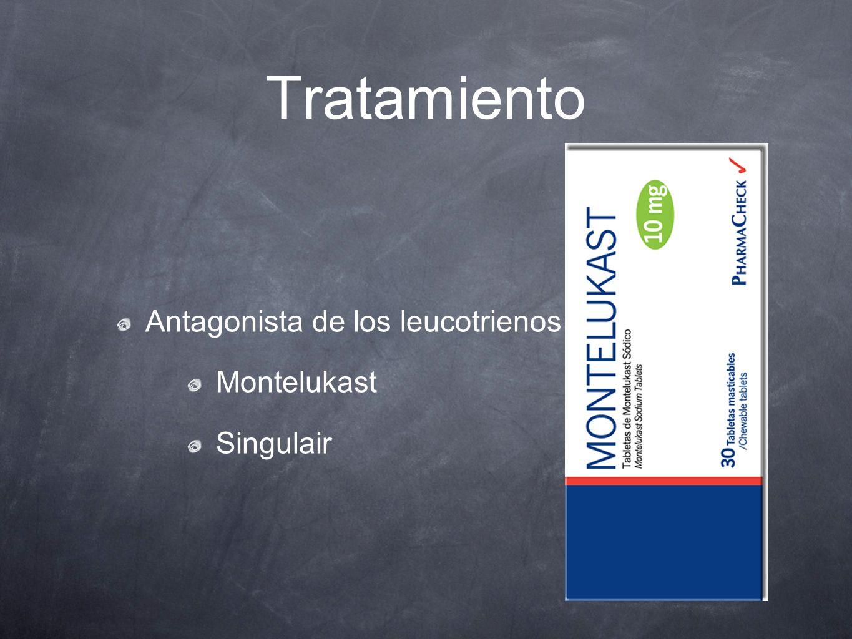 Tratamiento Antagonista de los leucotrienos Montelukast Singulair