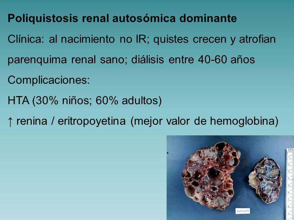 Poliquistosis renal infantil (recesiva).
