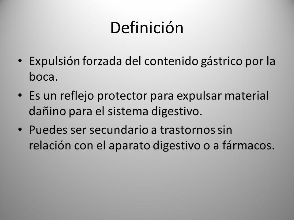 Diagnóstico diferencial Regurgitación: expulsión retrógrada de contenido gástrico sin digestión.