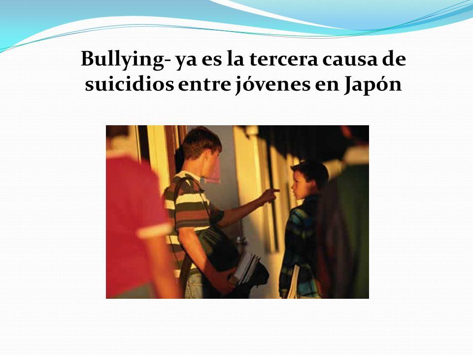 Bullying- ya es la tercera causa de suicidios entre jóvenes en Japón