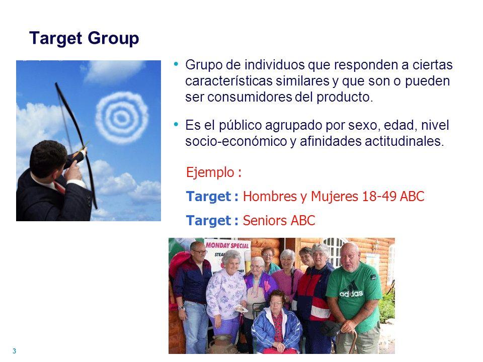 44 Target Group : Primario / Secundario Producto : Target Primario (Usuario) Target Secundario (Comprador) Producto : Target Secundari o (Usuario) Target Primario (Comprador )