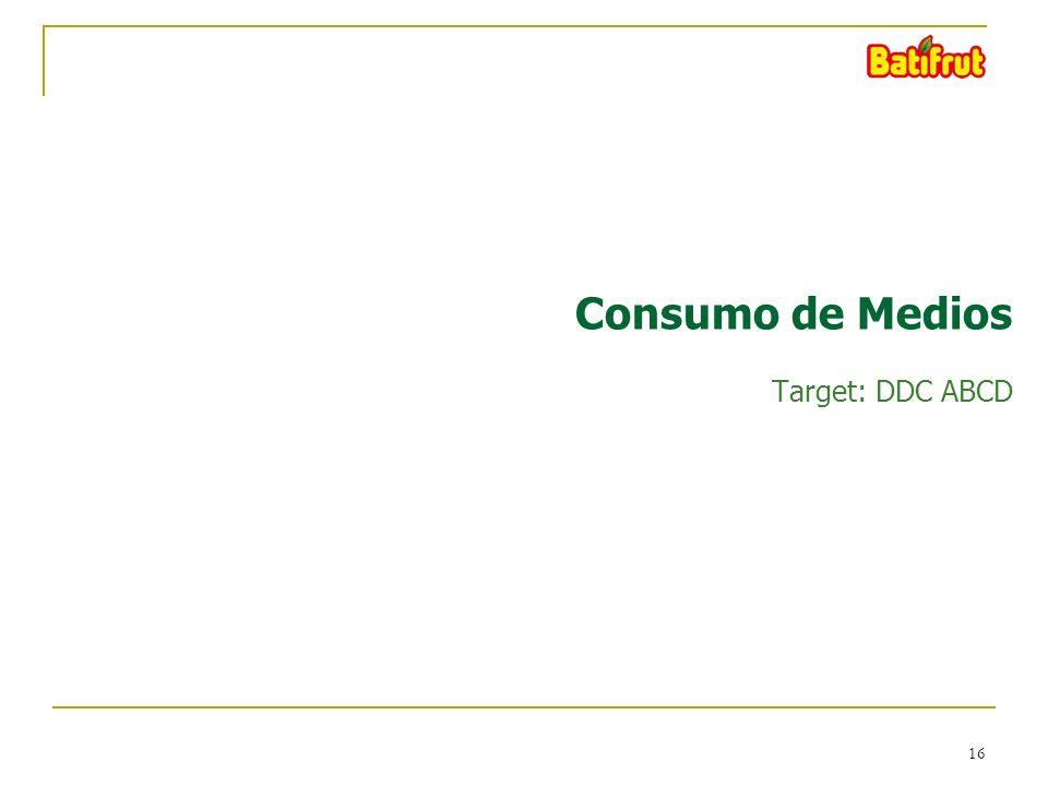 16 Consumo de Medios Target: DDC ABCD