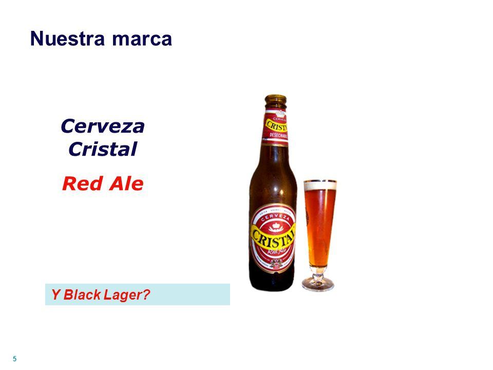 55 Nuestra marca Cerveza Cristal Red Ale Y Black Lager?