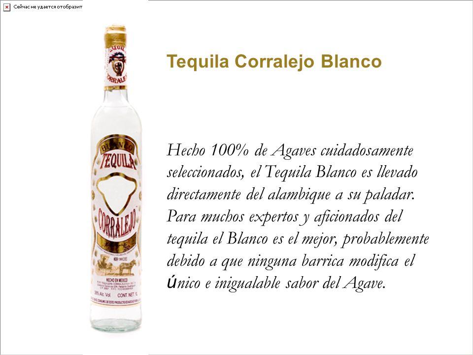 Tequila Corralejo Blanco Hecho 100% de Agaves cuidadosamente seleccionados, el Tequila Blanco es llevado directamente del alambique a su paladar. Para