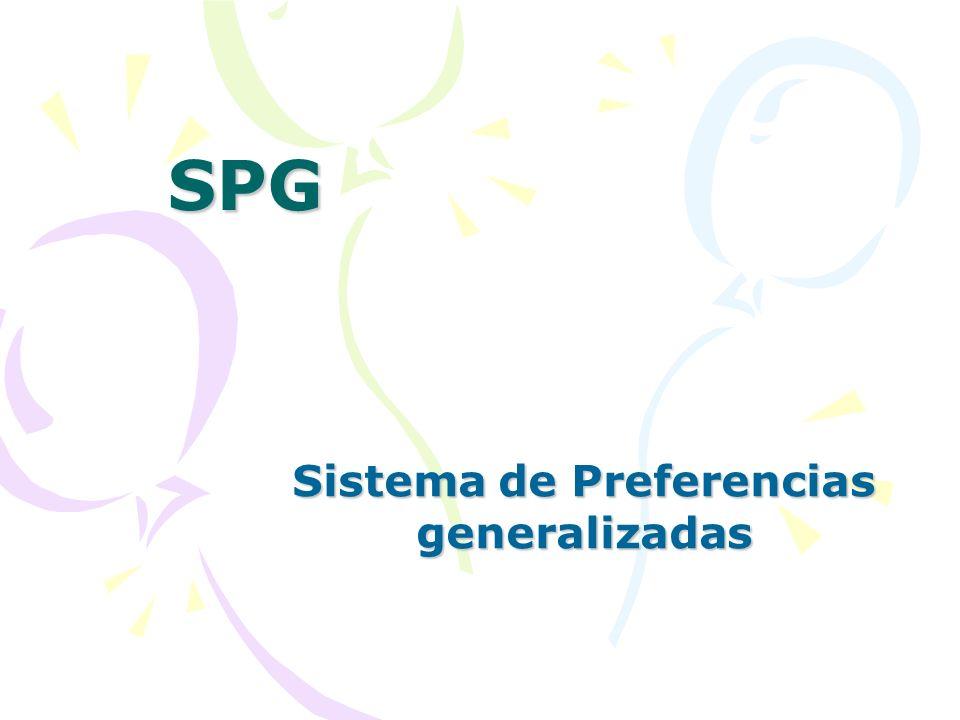 SPG Sistema de Preferencias generalizadas