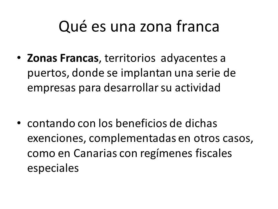 Qué es una zona franca Zonas Francas, territorios adyacentes a puertos, donde se implantan una serie de empresas para desarrollar su actividad contand