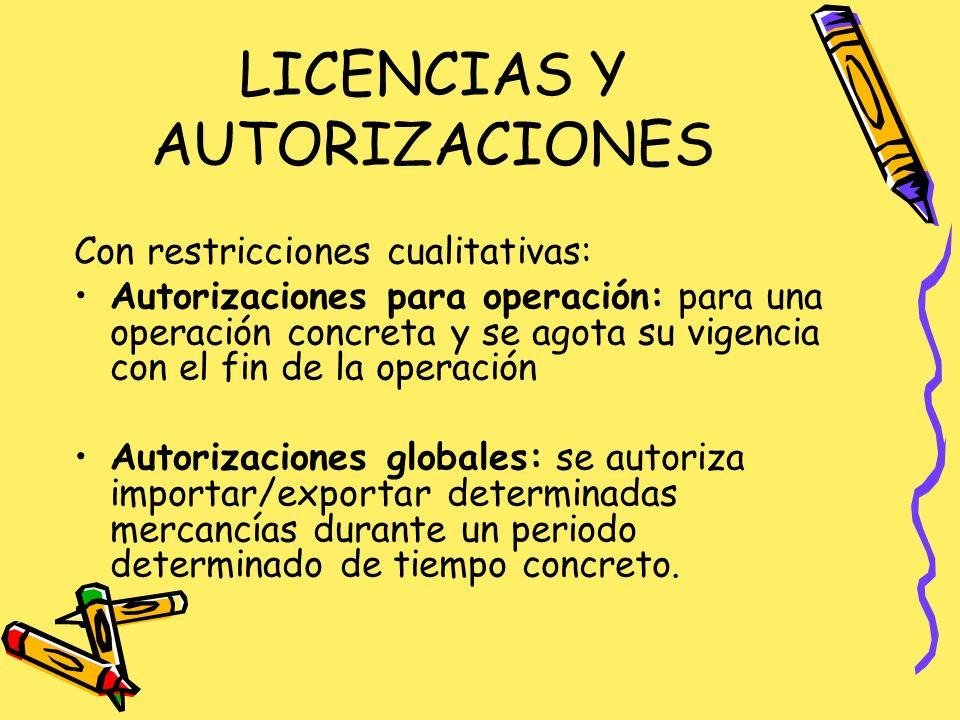 DOCUMENTACIÓN: Autorización administrativa de importación: indicado para mercancías sometidas a restricciones nacionales.
