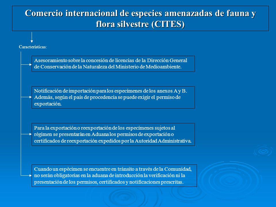 Comercio internacional de especies amenazadas de fauna y flora silvestre (CITES) Características: Asesoramiento sobre la concesión de licencias de la