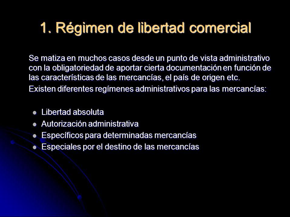 - Libertad Absoluta: Solamente han de presentar el DUA para liquidar arancel y quedar a libre práctica.
