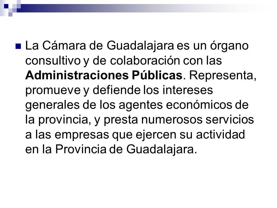 La Cámara de Guadalajara es un órgano consultivo y de colaboración con las Administraciones Públicas.