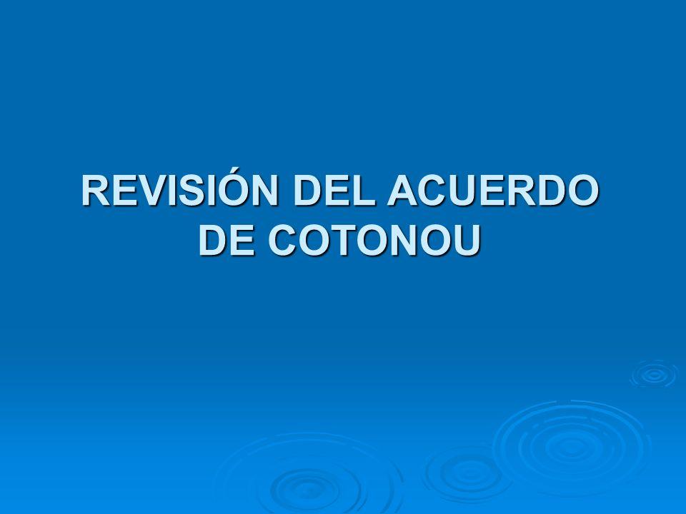 REVISIÓN DEL ACUERDO DE COTONOU