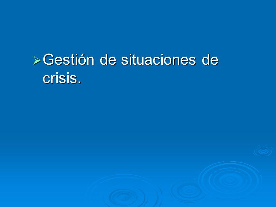 Gestión de situaciones de crisis. Gestión de situaciones de crisis.