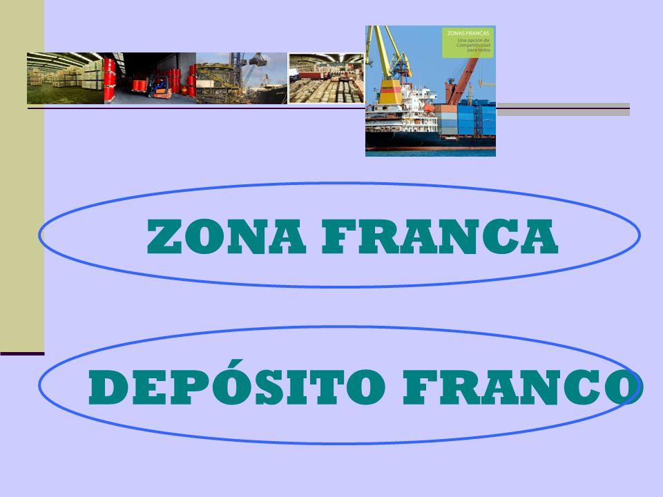 Tienen significados parecidos, ya que los dos son depósitos pero: En el depósito franco todavía no hemos pagado ningún impuesto sobre la mercancía, es decir, no la hemos nacionalizado hasta el momento de su venta.