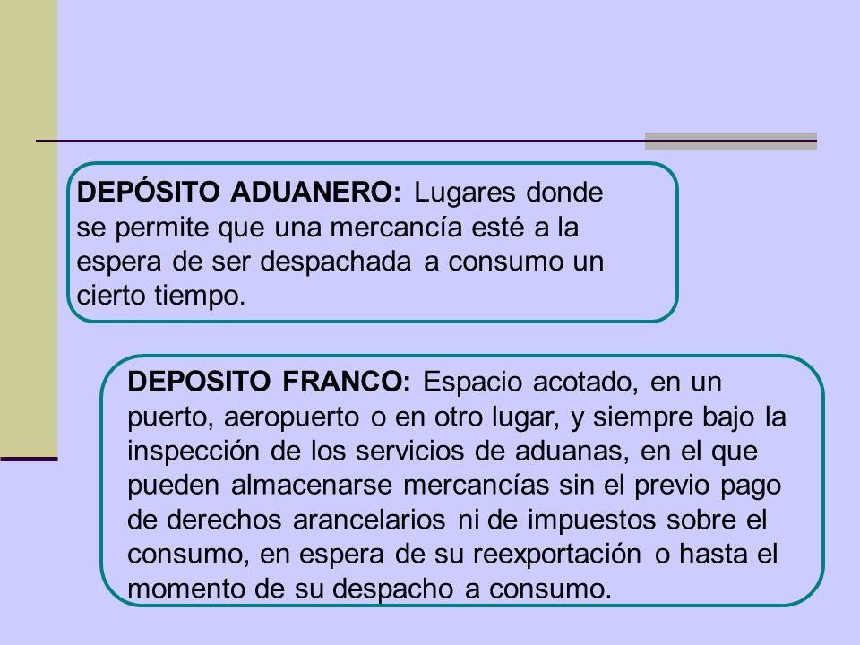 DEPOSITO FRANCO: Espacio acotado, en un puerto, aeropuerto o en otro lugar, y siempre bajo la inspección de los servicios de aduanas, en el que pueden
