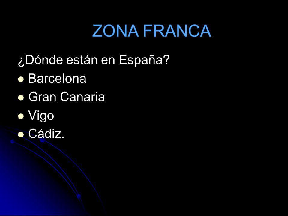 ¿Qué es? Espacio acotado (almacenes) Evitan la introducción aduanera en España.