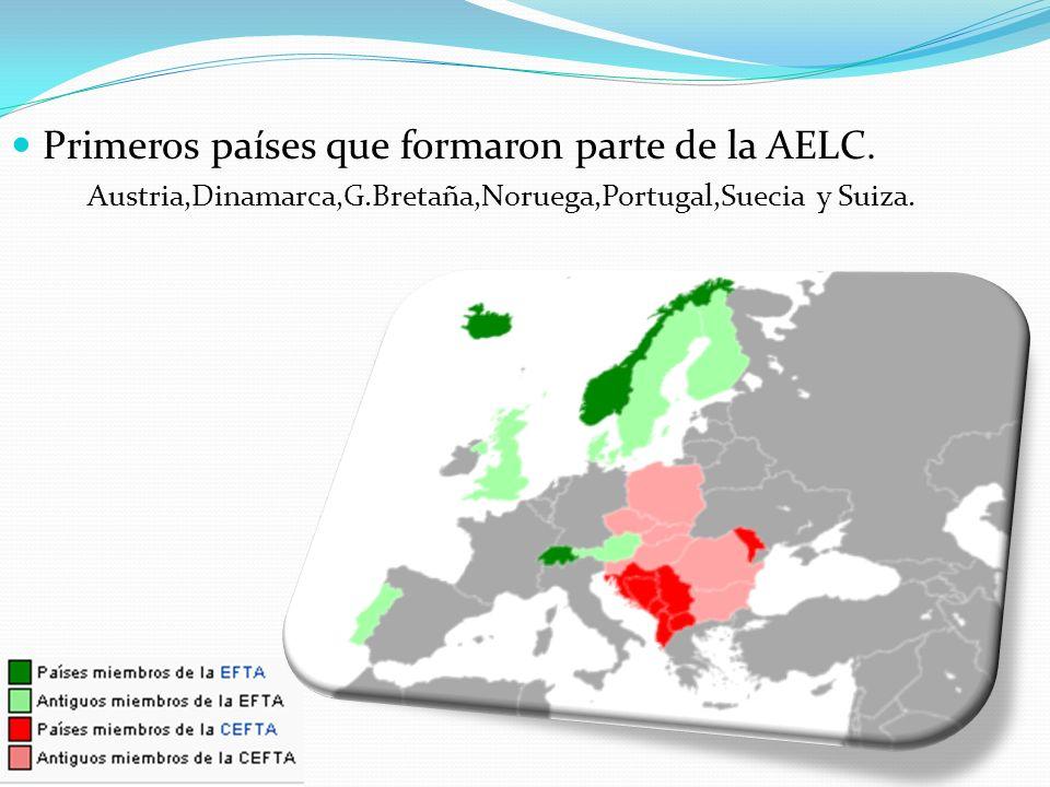 Los países que abandonaron la AELC; Dinamarca,G.Bretaña,Portugal,Suecia Y Austria.