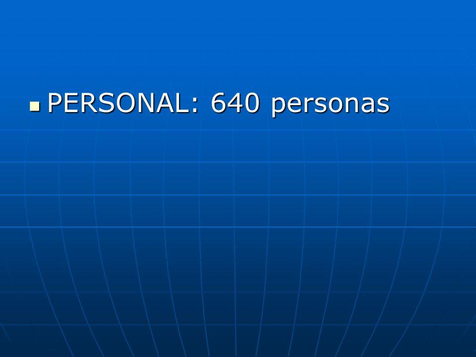 PERSONAL: 640 personas PERSONAL: 640 personas