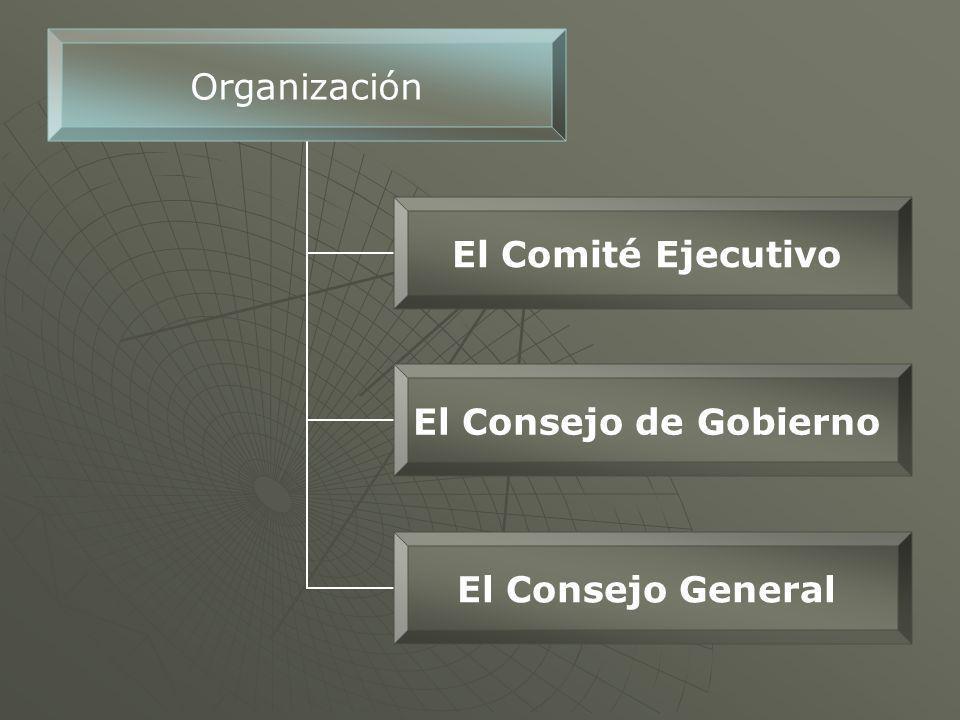 Organización El Comité Ejecutivo El Consejo de Gobierno El Consejo General