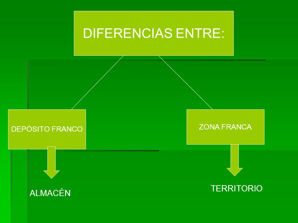 DIFERENCIAS ENTRE: DEPÓSITO FRANCO ZONA FRANCA TERRITORIO ALMACÉN