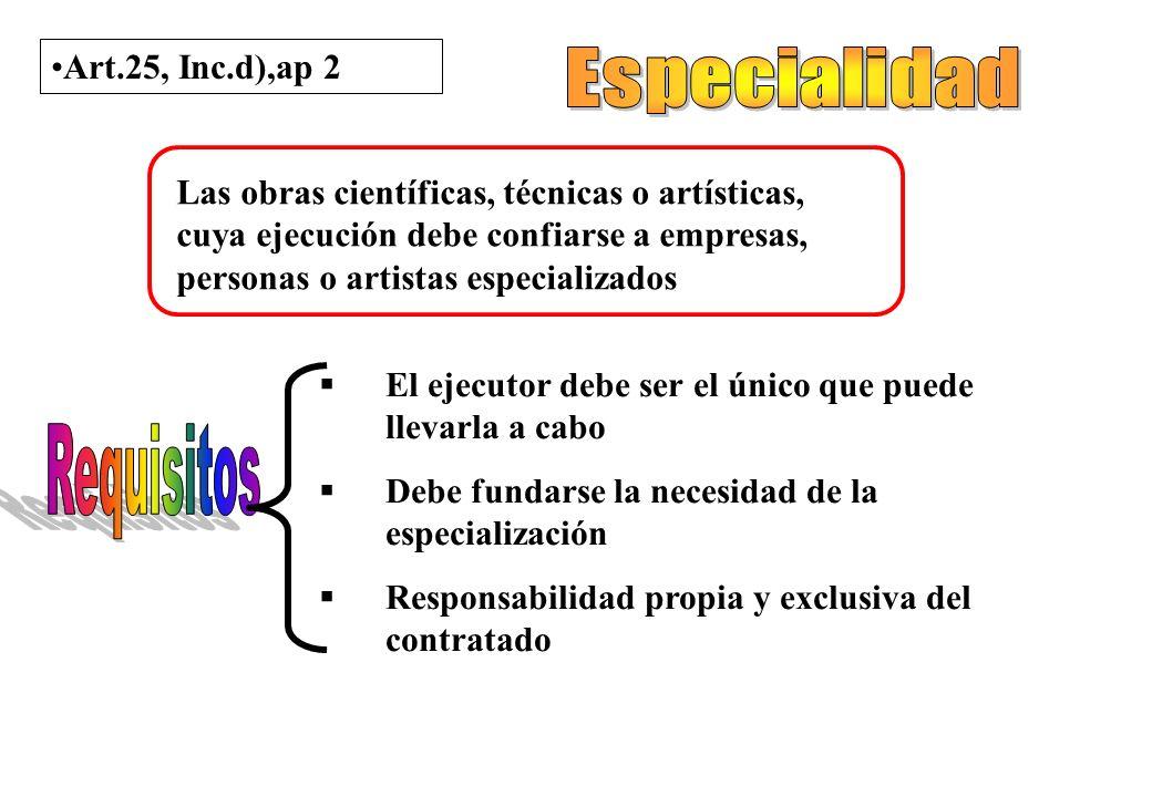 Art. 22 – Decreto 436/00 Contratación Directa Monto no superior a $ 75000 No fuere posible aplicar otro procedimiento Sólo cuando no resulte posible a