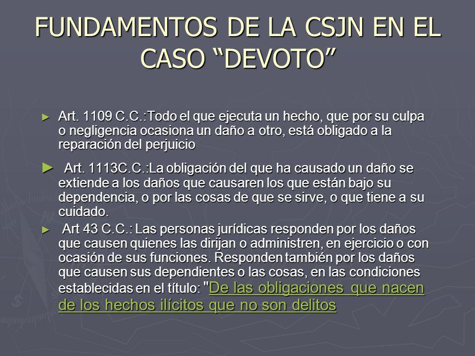 FUNDAMENTOS DE LA CSJN EN EL CASO DEVOTO Art.