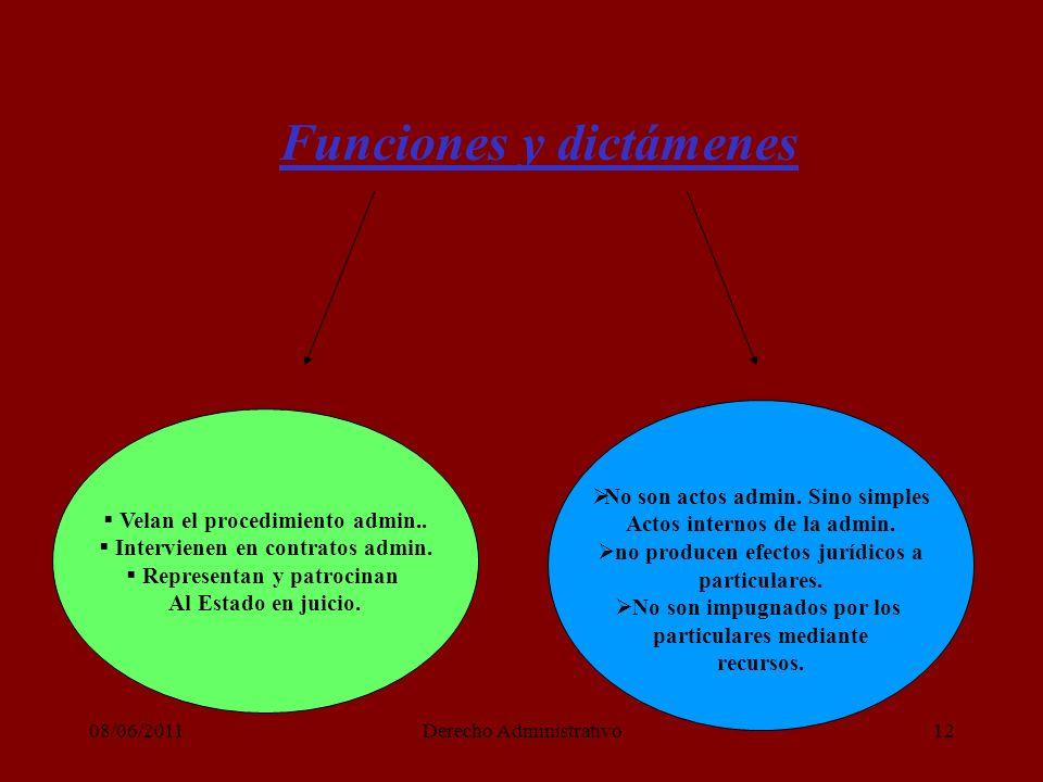 08/06/2011Derecho Administrativo12 Funciones y dictámenes Velan el procedimiento admin..