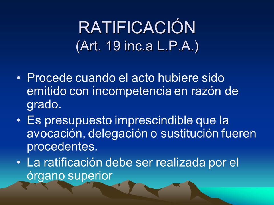 CONFIRMACIÓN (Art.