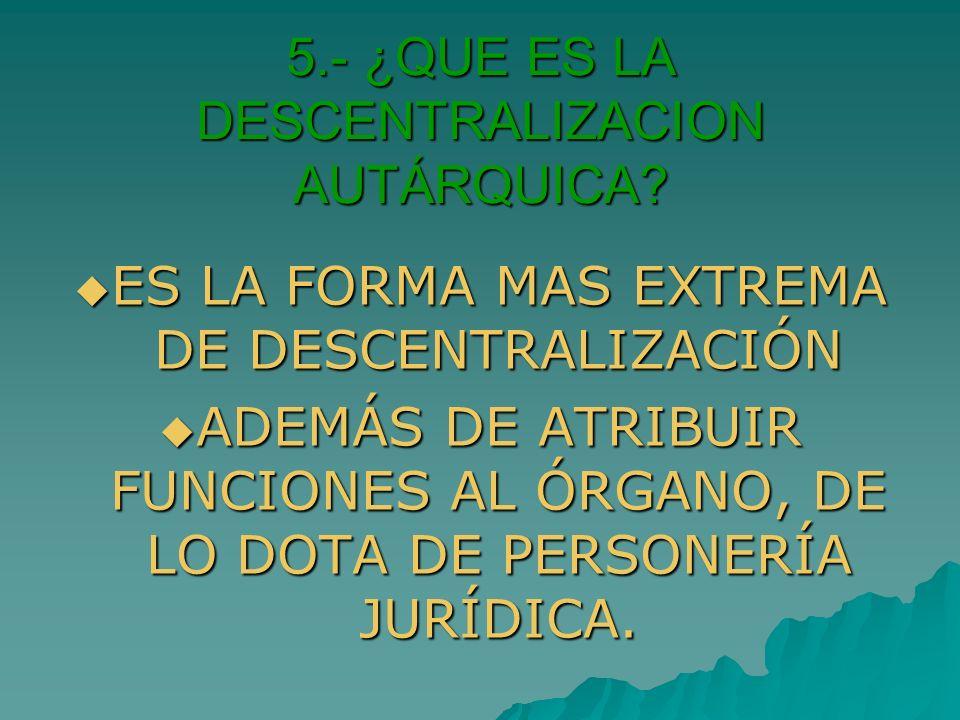6.- ¿QUE ES LA DESCONCENTRACIÓN.