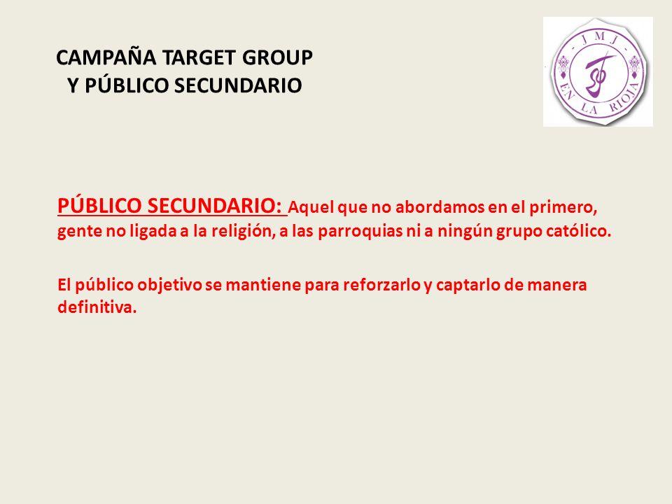CAMPAÑA TARGET GROUP Y PÚBLICO SECUNDARIO HERRAMIENTA TEASER
