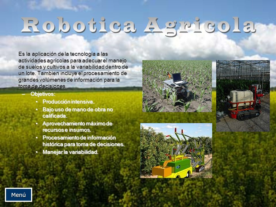 Es la aplicación de la tecnología a las actividades agrícolas para adecuar el manejo de suelos y cultivos a la variabilidad dentro de un lote. Tambien