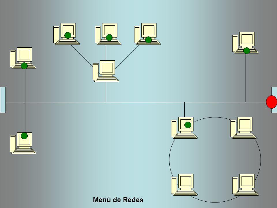 Menú de Redes