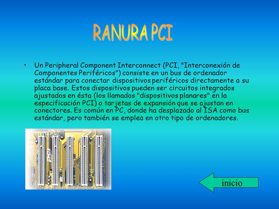 El puerto AGP es de 32 bit como PCI pero cuenta con notables diferencias como 8 canales más adicionales para acceso a la memoria RAM.