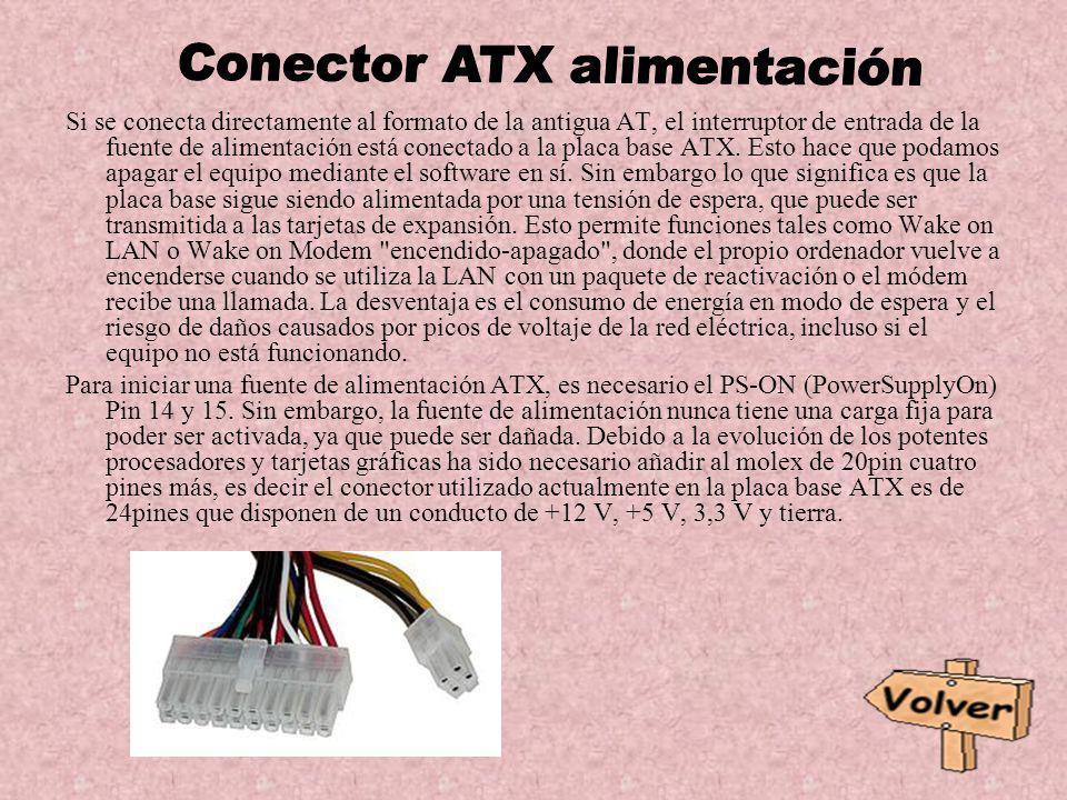 Si se conecta directamente al formato de la antigua AT, el interruptor de entrada de la fuente de alimentación está conectado a la placa base ATX. Est
