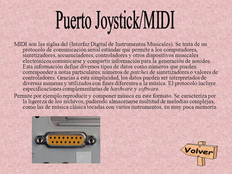 MIDI son las siglas del (Interfaz Digital de Instrumentos Musicales). Se trata de un protocolo de comunicación serial estándar que permite a los compu