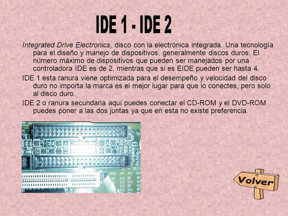 Integrated Drive Electronics, disco con la electrónica integrada. Una tecnología para el diseño y manejo de dispositivos, generalmente discos duros; E