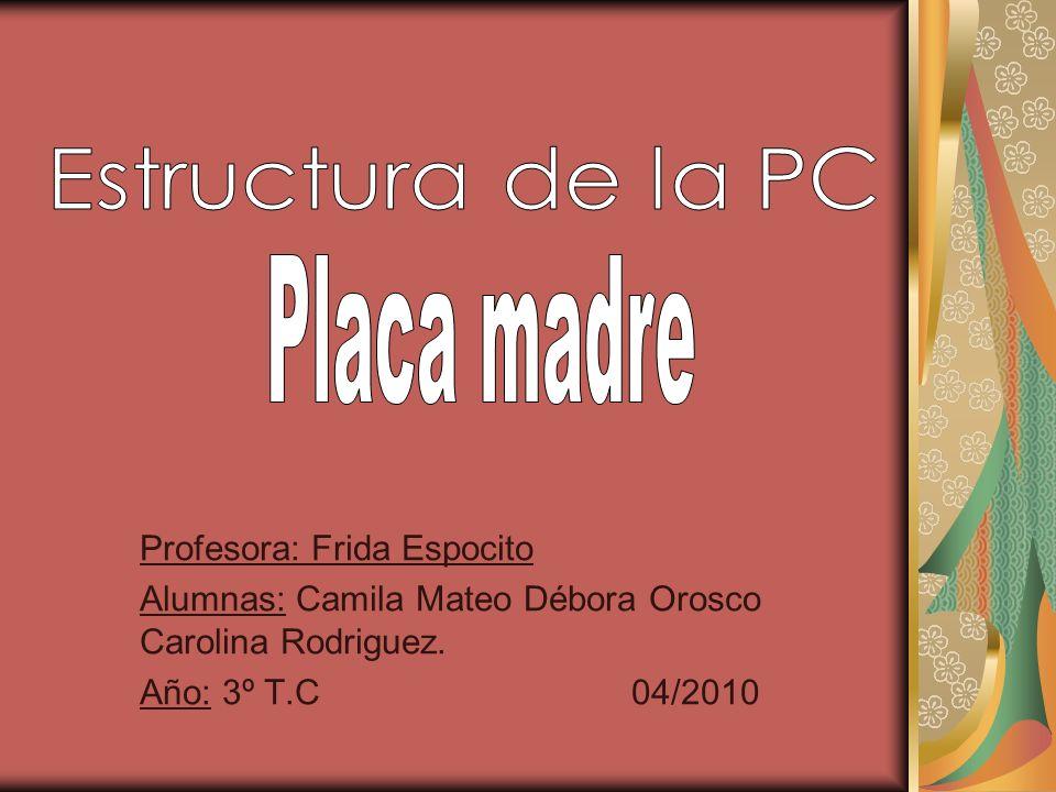 Profesora: Frida Espocito Alumnas: Camila Mateo Débora Orosco Carolina Rodriguez. Año: 3º T.C 04/2010