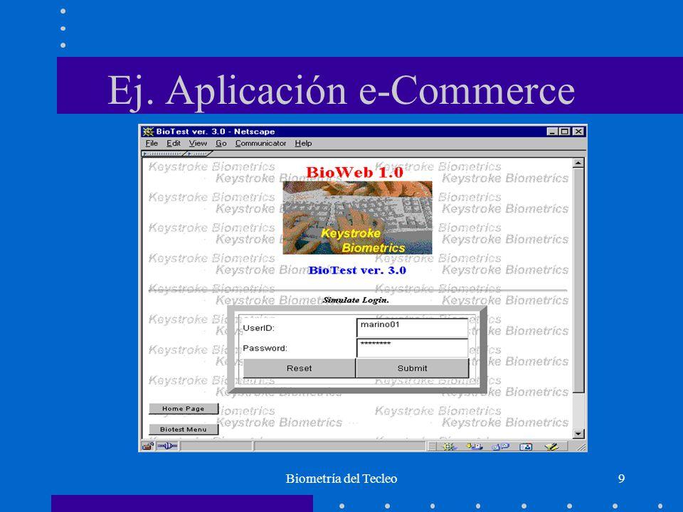 Biometría del Tecleo9 Ej. Aplicación e-Commerce