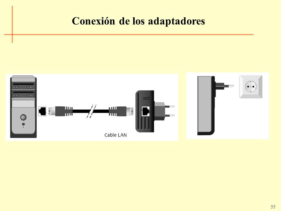 55 Conexión de los adaptadores