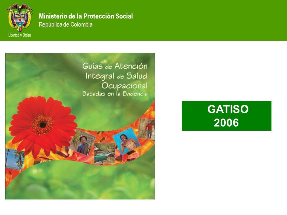 Ministerio de la Protección Social República de Colombia CONTENIDO NOMBRE DE LAS GUIAS ESTADÍSTICAS DE ENFERMEDAD PROFESIONAL DEFINICIÓN DE GUÍAS DE ATENCIÓN INTEGRAL METODOLOGÍA, CONTENIDO Y ESTRUCTURA DE LAS GUÍAS.