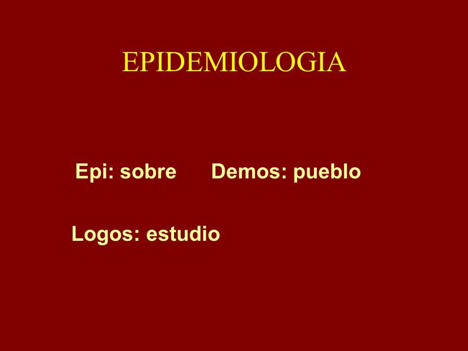 EpidemiologíaCiencia Distribución de las Enfermedades Determinantes del Proceso Salud- Enfermedad Población Humana Aplicación de los Conocimientos para Mejorar Salud de la Población