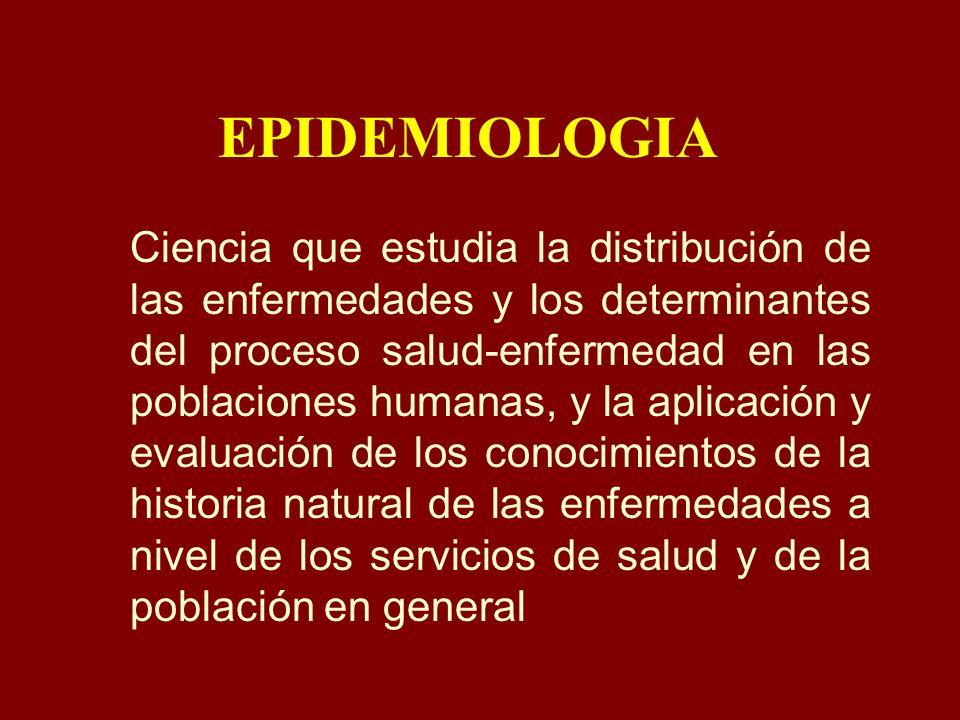 USOS DE LA EPIDEMIOLOGIA Estudio de la historia de la salud de las poblaciones y los cambios en las enfermedades.