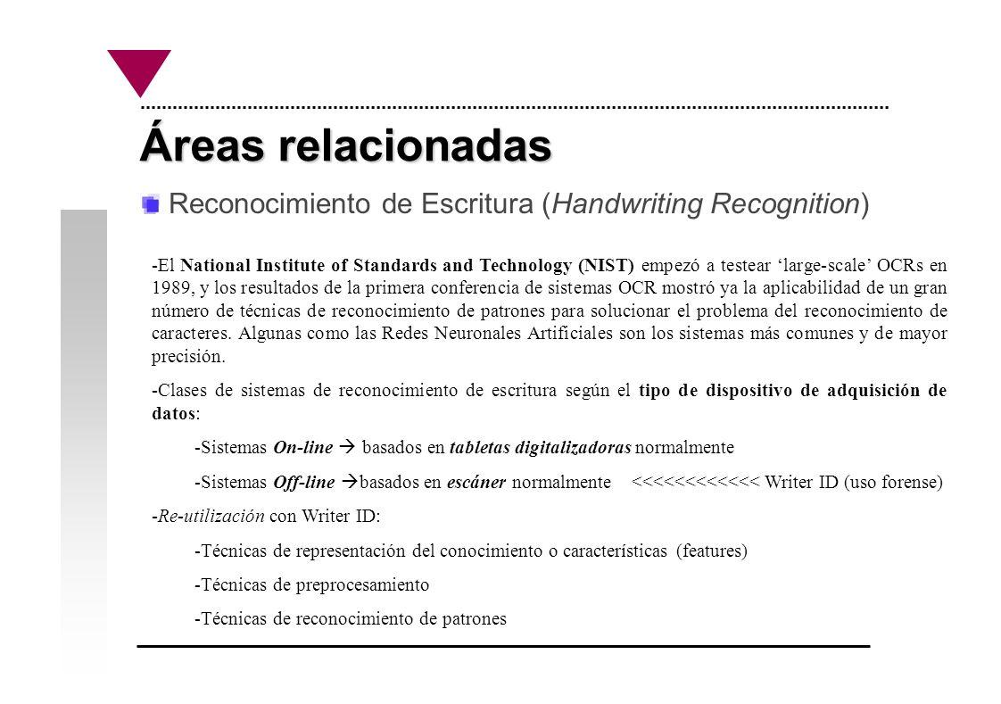 Experiencia previa: El proyecto RAMA Reconocimiento de caracteres manuscritos españoles.
