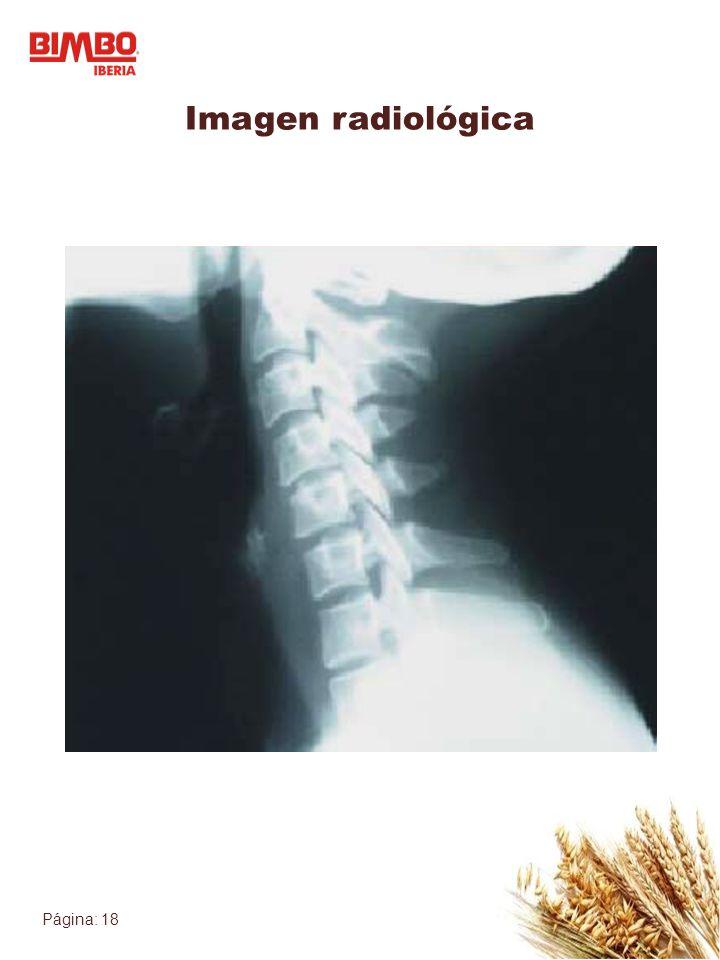 Página: 18 Imagen radiológica