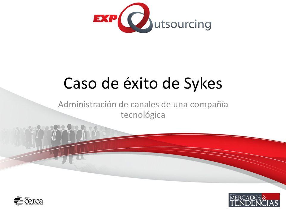 Caso de éxito de Sykes Administración de canales de una compañía tecnológica
